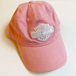 Harley Davidson Pink Embroidered Hat Cap